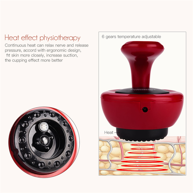 Electric Guasha Massager Scraping Tool Fat Burner Body Slimming Vacuum Cans Cupping Body Massage Anti Cellulite Suction Cups 2