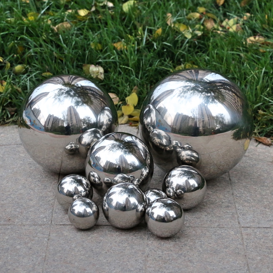 1 PCS 400MM Stainless Steel Hollow Ball Mirror Polished Shiny Sphere For Kinds Of Ornament And Decoration