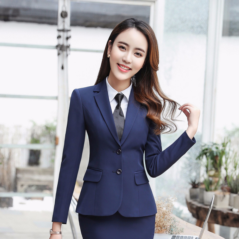 506db33f9b05 Mujeres Vest Formal 880 Y Black Primavera Color Chaqueta blue Blazer  Invierno 880 De Skirt Las ...