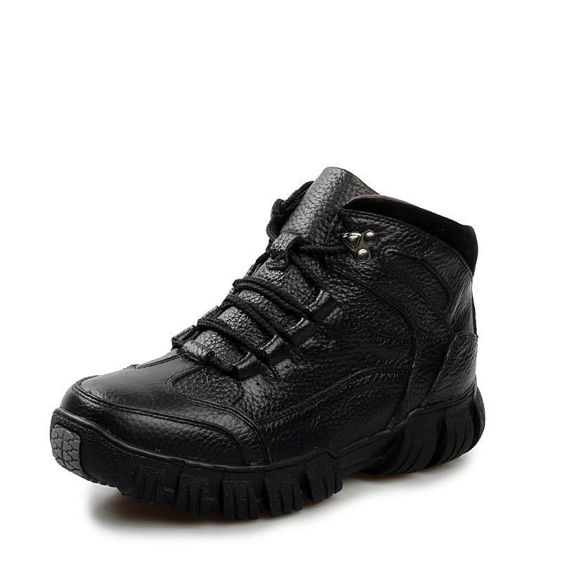 73fd1aa3c1d88 Hiver 209 Add black Véritable Bottes Chaud Hh add Wool En Pour brown  Chaussures Wool Militaire Fourrure Hommes ...