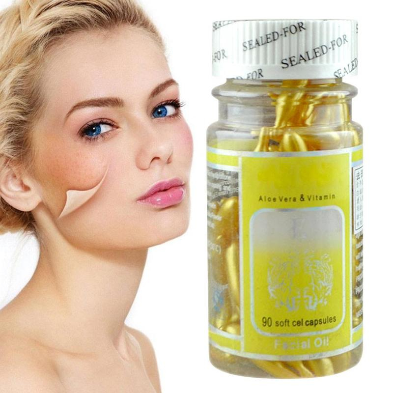 90pcs Vitamin E Capsules Serum Wrinkle Removing Whitening Cream VE Facial Freckle Capsule ZBY6438
