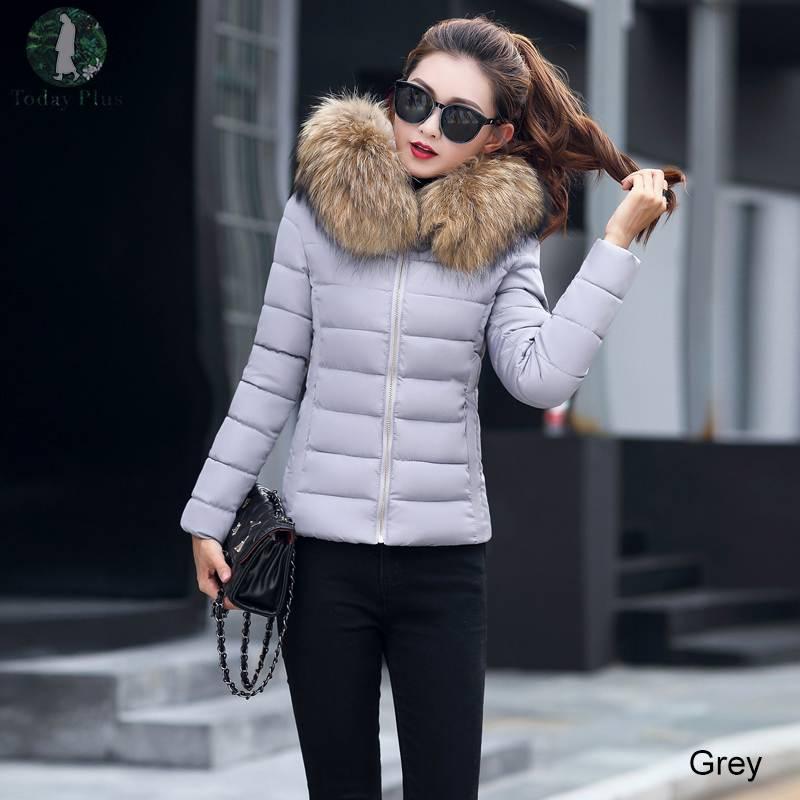 2019 Women Fake Fur Collar Down   Parka   Coat Winter Cotton Jacket Thick Snow Wear Coat Jacket Female Solid Warm   Parkas   Plus Size