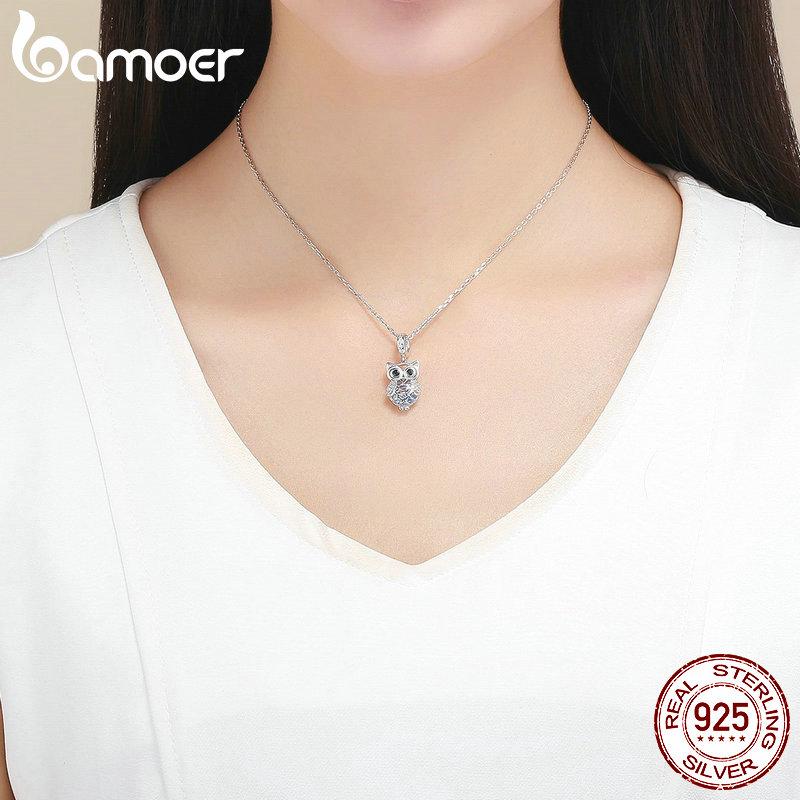 Eule mit freien blauen Zirkonia im Innern | 925 Beads & Charms 925 Dangle Beads Eule 4