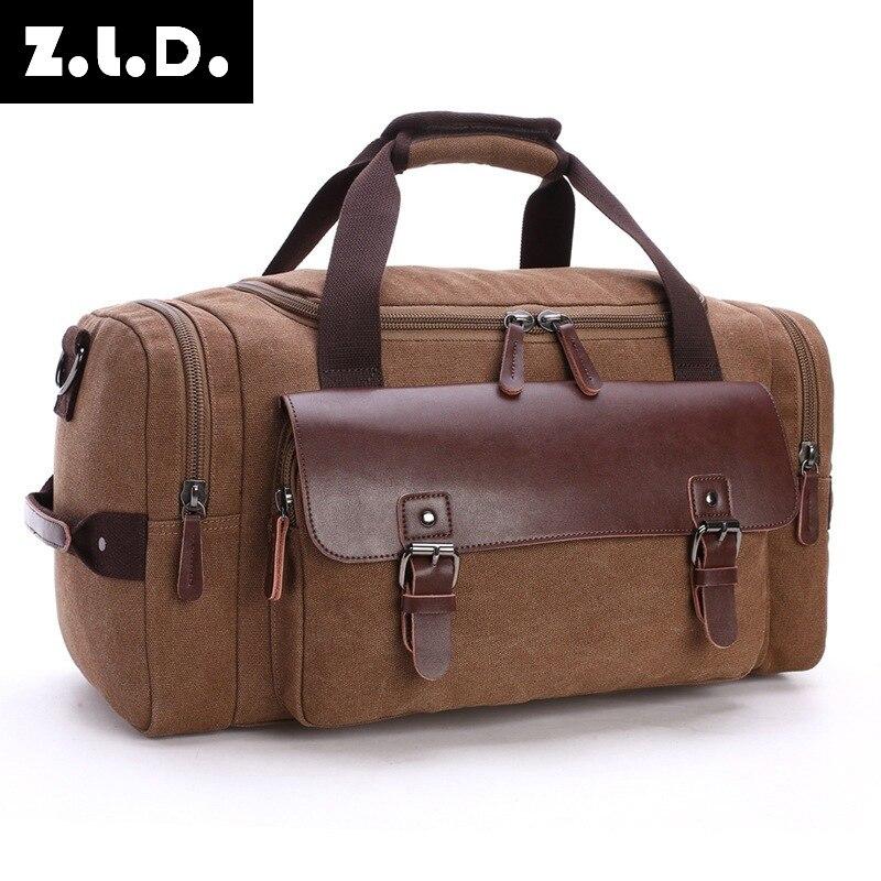 Большая емкость 16A прочная парусиновая Мужская Дорожная сумка повседневная сумка через плечо модная брендовая дизайнерская сумка тоут для