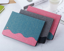 case for ipad mini4 protective cover MINI4 leather case mini 4 back shell ultra-thin denim pattern bracket anti-fall недорого