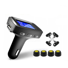 Car TPMS External Or Internal Tire Pressure Monitoring System Cigarette Lighter Digital Liquid Display Tire Pressure special car tire pressure system only for ownice display the tempreature and pressure with high degree accuracy