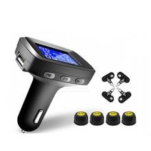 Car TPMS External Or Internal Tire Pressure Monitoring System Cigarette Lighter Digital Liquid Display Tire Pressure