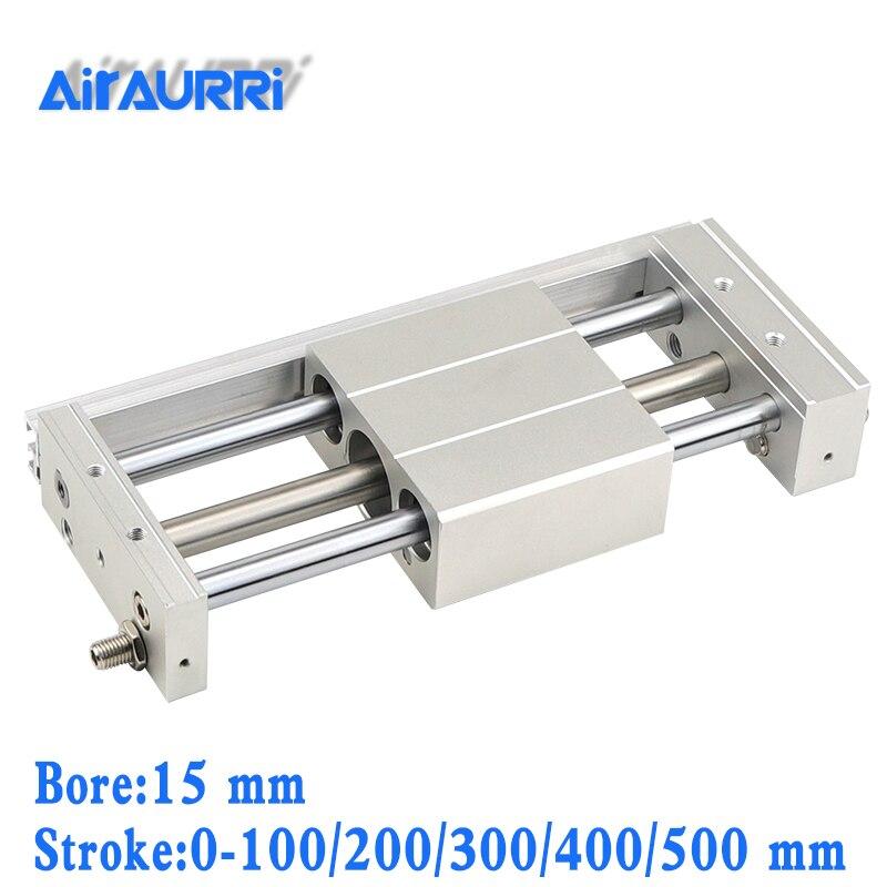 Cylindre sans tige à couplage magnétique CY1S/CDY1S/Style curseur 15mm alésage 100/200/300/400/500mm actionneur linéaire pneumatique à course