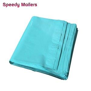 Image 4 - Hızlı Posta 100 adet 8.5x10 inç Renkli Poli Mailer 22x26 cm Teal Yeşil Poli Mailer Kendinden mühür Plastik Ambalaj Zarf Çanta