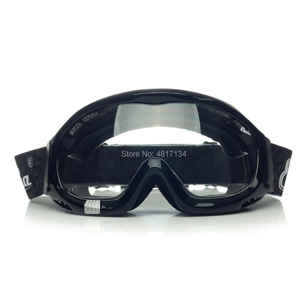 'Fit Over Glasses' Anti-fog Riding Goggles Clear Lens Sponge Liner Adjustable Elastic Headband for Wear Glasses Or Normal Vision