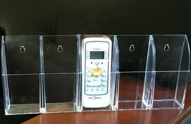 Multifunction Clear Acrylic Remote Control Organizer