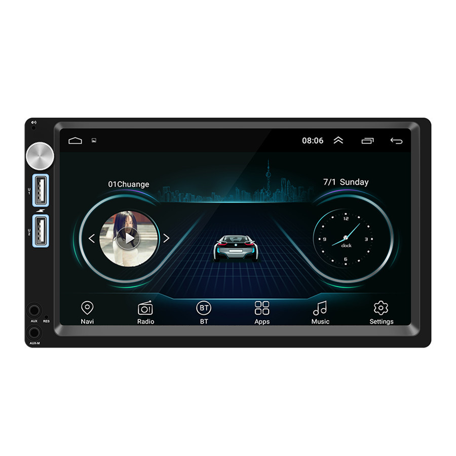 2 DIN touch screen Android 8 1 car mp5 player GPS navigation wifi Dual USB Rear Camera in Car MP4 MP5 Players from Automobiles Motorcycles