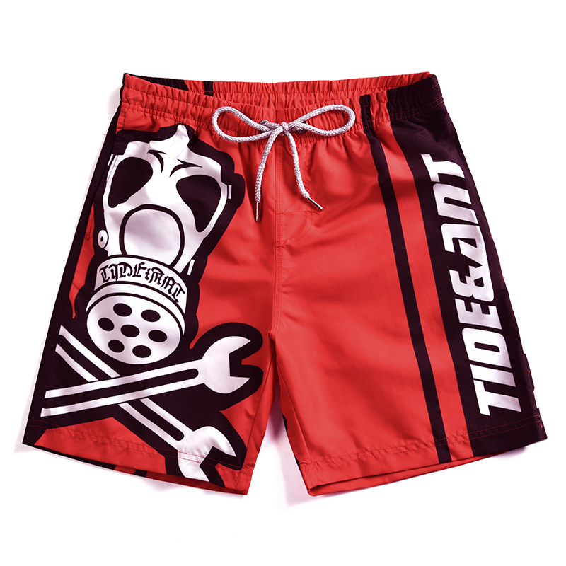 2019 Newest Men's Surf   Shorts   Mens Beach   Shorts   Boy's Swimwear Gay Swimming Trunks Red   Board     Shorts   Loose Beach Pants