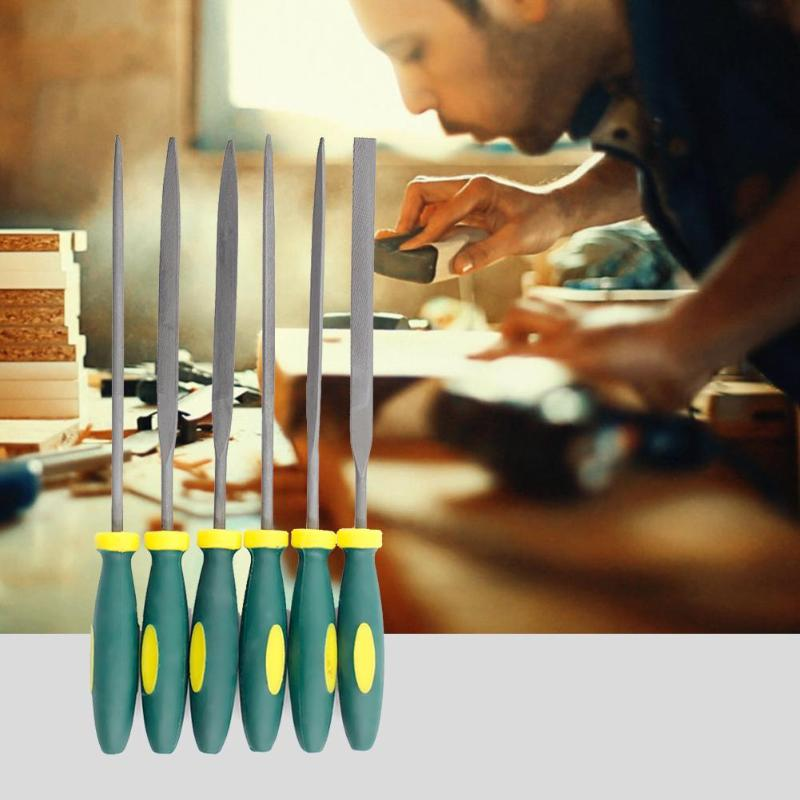 Holzbearbeitung Nadel Dateien 6 Teile/satz Multi-funktionale Metall Glas Stein Fliesen Holz Carving Dateien Werkzeuge