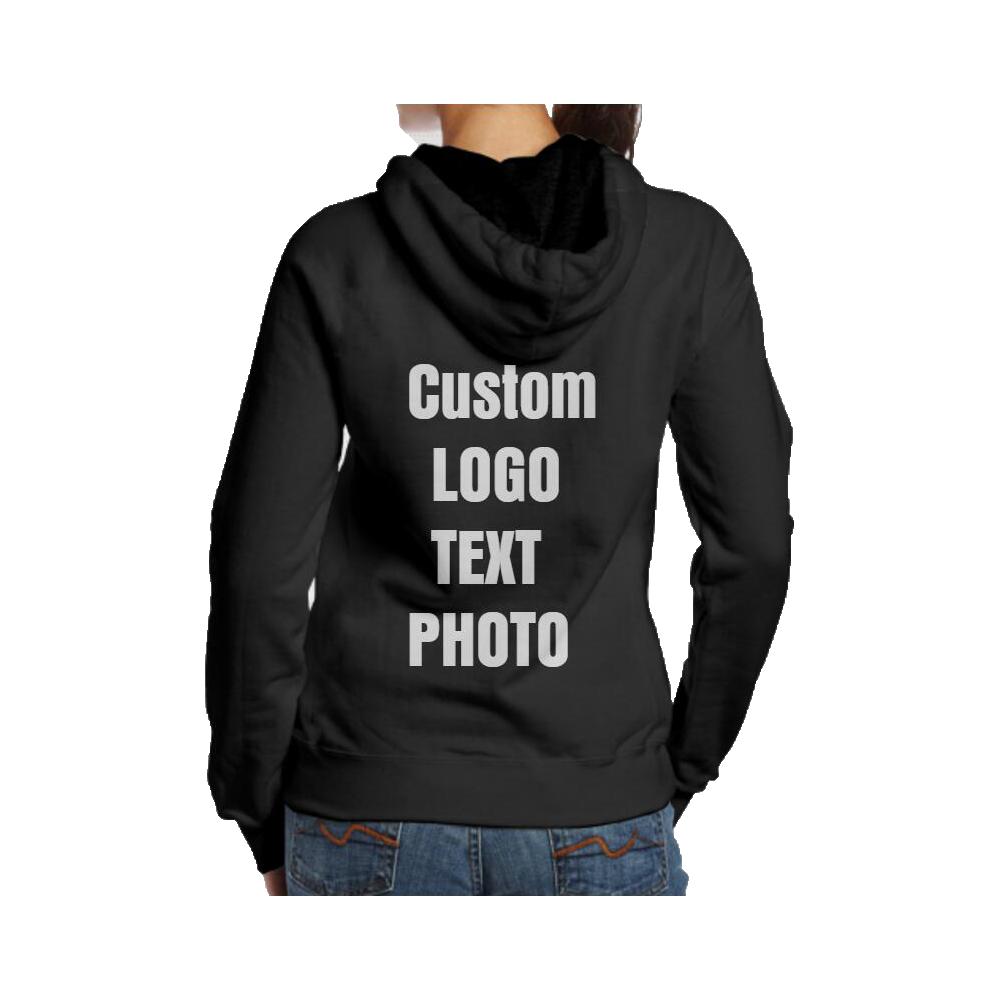 8e2daad85 Personalised Custom Women Hoodie Sweatshirt Back Print LOGO/TEXT/PHOTO