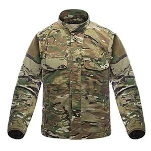 Image 2 - 2019 taktyczna wojskowa koszula w kamuflaż z długim rękawem mężczyźni wiosna lato koszula Cargo żołnierze sił zbrojnych walki multi kieszenie jednolite