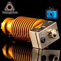 HQ Emas Heatsink V6 Tembaga Heater Block Hotend J-Kepala Heater Block Panas Istirahat Nozzle untuk E3D Hotend untuk titan Extruder