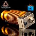 HQ gold heatsink v6 медный нагревательный блок hotend j-нагревательная головка блок heat break сопло для E3D HOTEND для экструдера titan