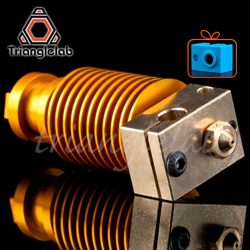 HQ Gold Heatsink V6 Copper Heater Block Hotend  J-head Heater Block Heat Break NOZZLE  For E3D HOTEND For Titan Extruder