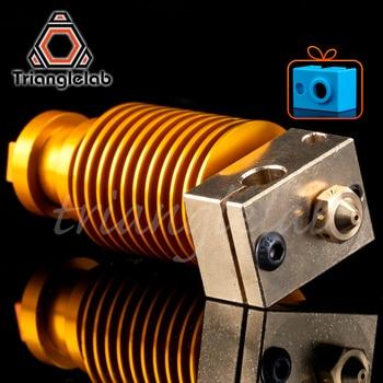 HQ gold heatsink v6 copper heater block hotend  J-head heater block heat break NOZZLE  for E3D HOTEND for titan extruder недорого