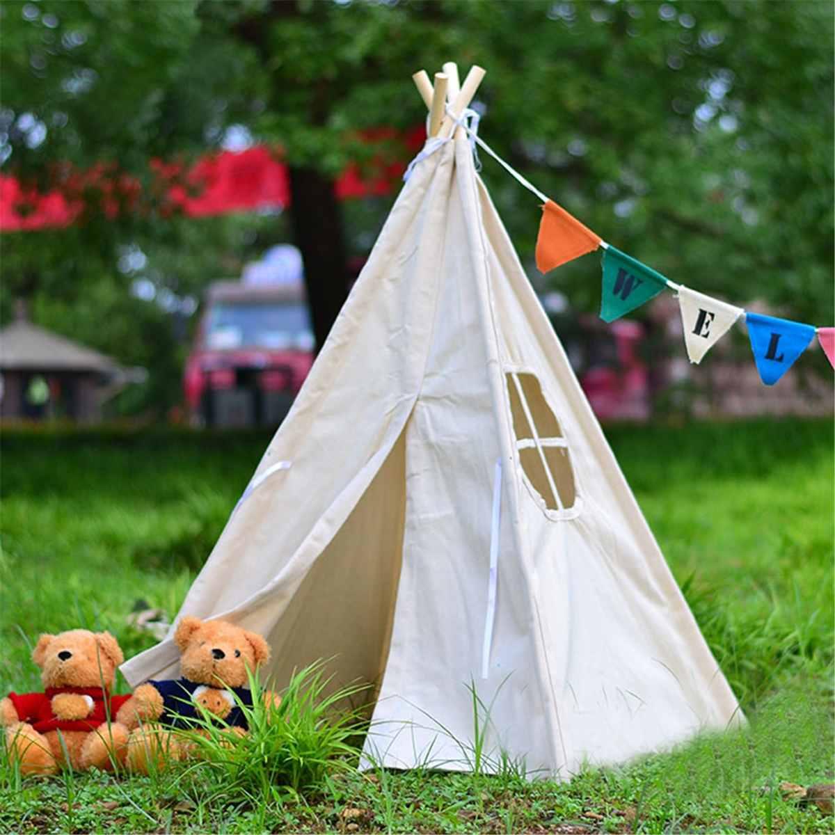 Cadeau enfants Playhouse dormir dôme enfants jouer jouets tente tipi tissu bébé Photo accessoires château Triangle enfants tente pliante