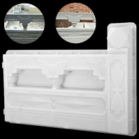 1Pc Plastic Garden Fence Mold 615x435mm DIY Concrete Fence Mold White Garden Flower Pool Plastic Mold Brick Courtyard