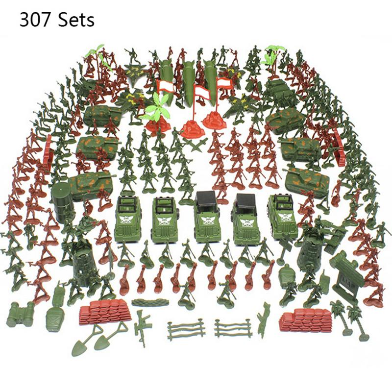 Action & Toy Figures Supply 337pcs/set 4cm Soldiers Military Plastic Army Men Figures Gift Toy Toy Model Action Figure Sandbox Games Toys For Children Boys