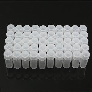 50 sztuk 5g przezroczysty objętość z tworzywa sztucznego butelka próbka 5ML mała butelka fiolka strona główna kuchnia pojemnik do przechowywania laboratorium pobierania próbek tanie i dobre opinie Laboratory Bottle Laboratorium butelki