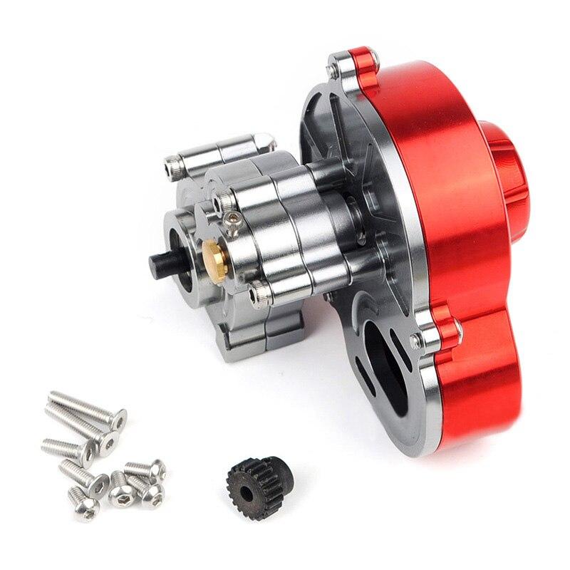Boîte de vitesses de Transmission en métal avec engrenage en acier pour voiture axiale SCX10 4WD RC 1/10