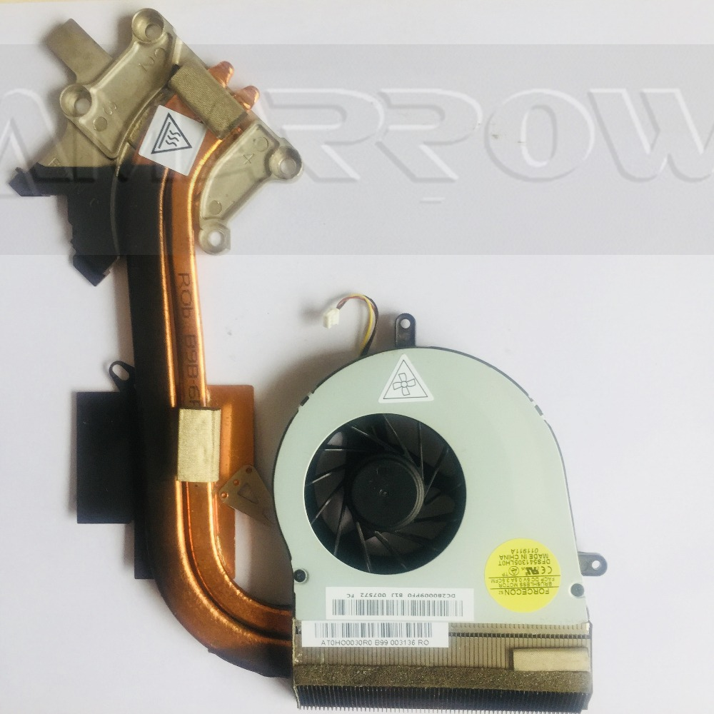 Original For <font><b>ACER</b></font> laptop heatsink cooling <font><b>fan</b></font> cpu cooler <font><b>7750</b></font> 7750G 7750E CPU heatsink Double copper welding AT0HO0030R0 020R0 image