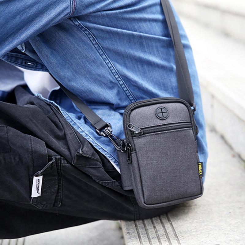 Shoulder Outdoor Running Sport Bag Waterproof Mobile Phone Money Bags Multi-Function Crossbody Messenger Belt Bag For Men Male