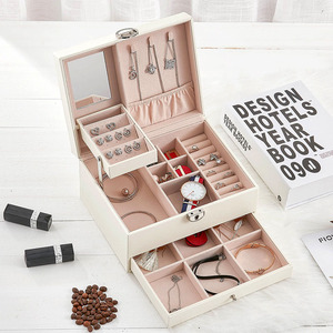 Image 3 - Fashion Design Leather Jewelry Box Jewelry Case Jewelry Package Storage Large Space Jewelry Ring Necklace Bracelet Hot Selling