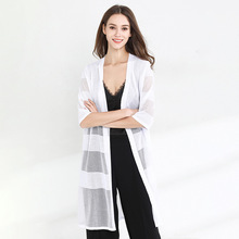 Knitted cardigans women Hollow Out half sleeve All-match High Quality knitting cardigan summer Air Conditioner Summer Shirt 1922