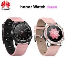 """Huawei relógio inteligente honor sonho, relógio colorido de 1.2 """", tela colorida de amoled para sono e ciclismo, natação, montanha e gps 390 relógio de pulso"""