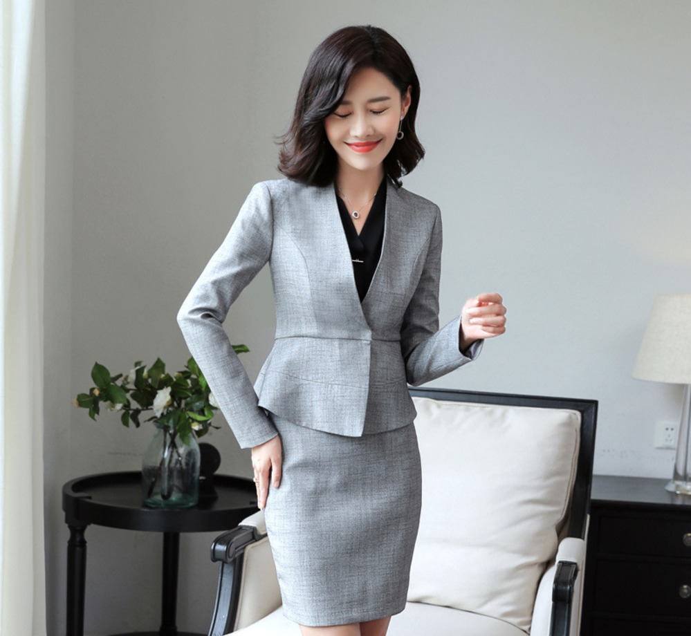 2018 Slim Fit Women Formal Jacket Long Sleeve Short Blazer Office Work Solid Lady Coat V-Neck Fashion Hidden Breasted Button