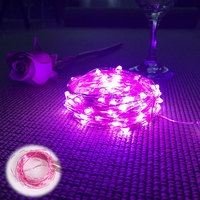 Pink LED copper lights string 393.7 Length holiday lighting chain wedding decoration party fairy lights 3.5V steady on