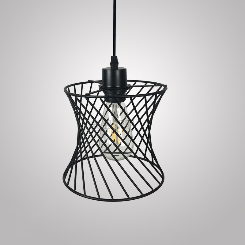 1x Metal Bulb Guard Wire Cage Pendant Lamp Shades Ceiling Light Cover Industrial
