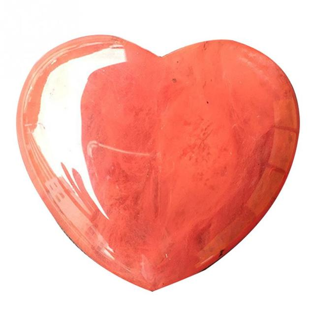 1Pc Natural Heart Shaped Stone Rose Quartz Striped Agate Crystal Carved Palm Love Healing Gemstones 2 Sizes #0117 Small Stone