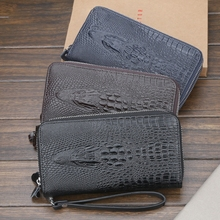 Large-Capacity Men's Wallet Clutch Bag Double Zip Coin Purse Multi-Card Mobile Phone Bag Wallet feidikabolo boutique men s clutch bag new fashion personality large capacity business bag casual wild mobile phone coin purse