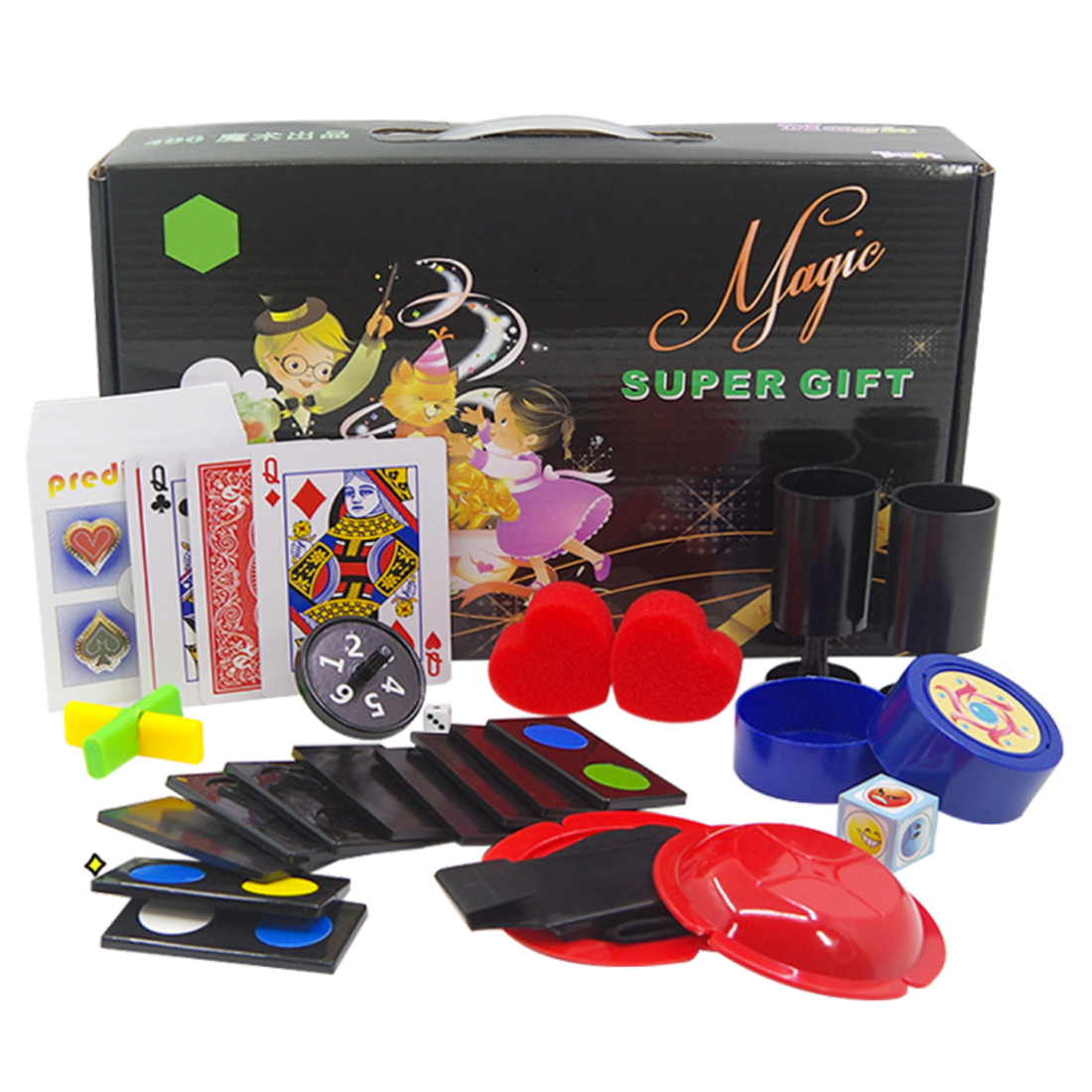 Children Magic Gift Box Educational Toy Set With Perdiction Solitaire Magic Fluoroscopy Dice For Birthday - B Set