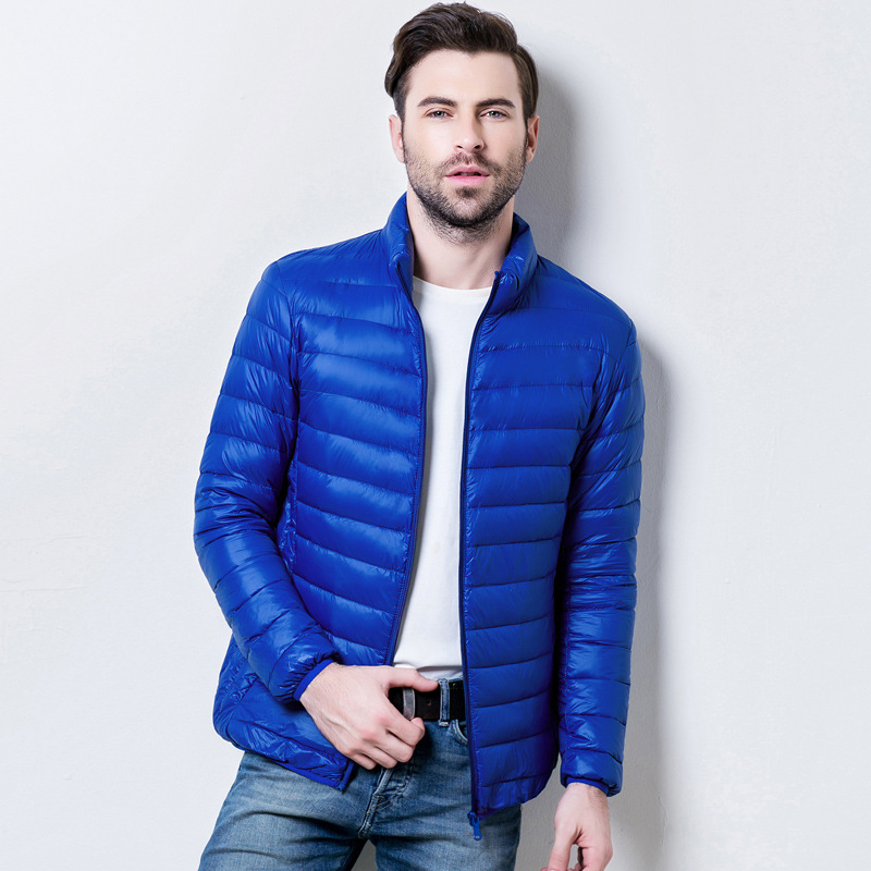 Ultra Light Jacket Mens White Duck Down Jacket Men Gift Thin Down Jacket Feather 2019 Winter Autumn Male Casual Down Jacket Coat