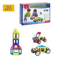 40pcs Magnetic Piece 703a English Set Children's Educational Assembled Building Blocks Toys