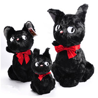 New Arrival 3 Size Japan Anime Hayao Miyazaki Kiki's Delivery Service Black JiJi Plush Toy 30cm 47cm 60cm Kawaii Kids Gift Doll