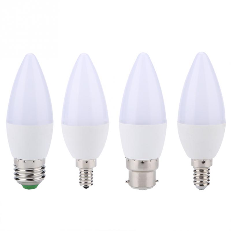 3W RGB Color Changing LED Energy-Saving Candle Light Bulb Lamp AC85-265V with Remote Control