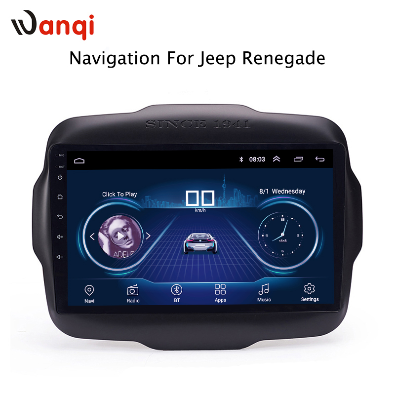 9 inch Android 8.1 full touch screen car multimedia system for Jeep Renegade 2016-2018 car gps radio navigation