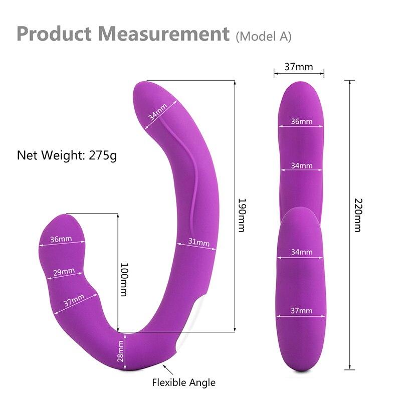 10 Speeds Wireless Remote Lesbian Strapless Anal Plug Dildo Vibrator Dual Vibrating Strapon G Spot Vibrador Sex Toys for Women in Vibrators from Beauty Health