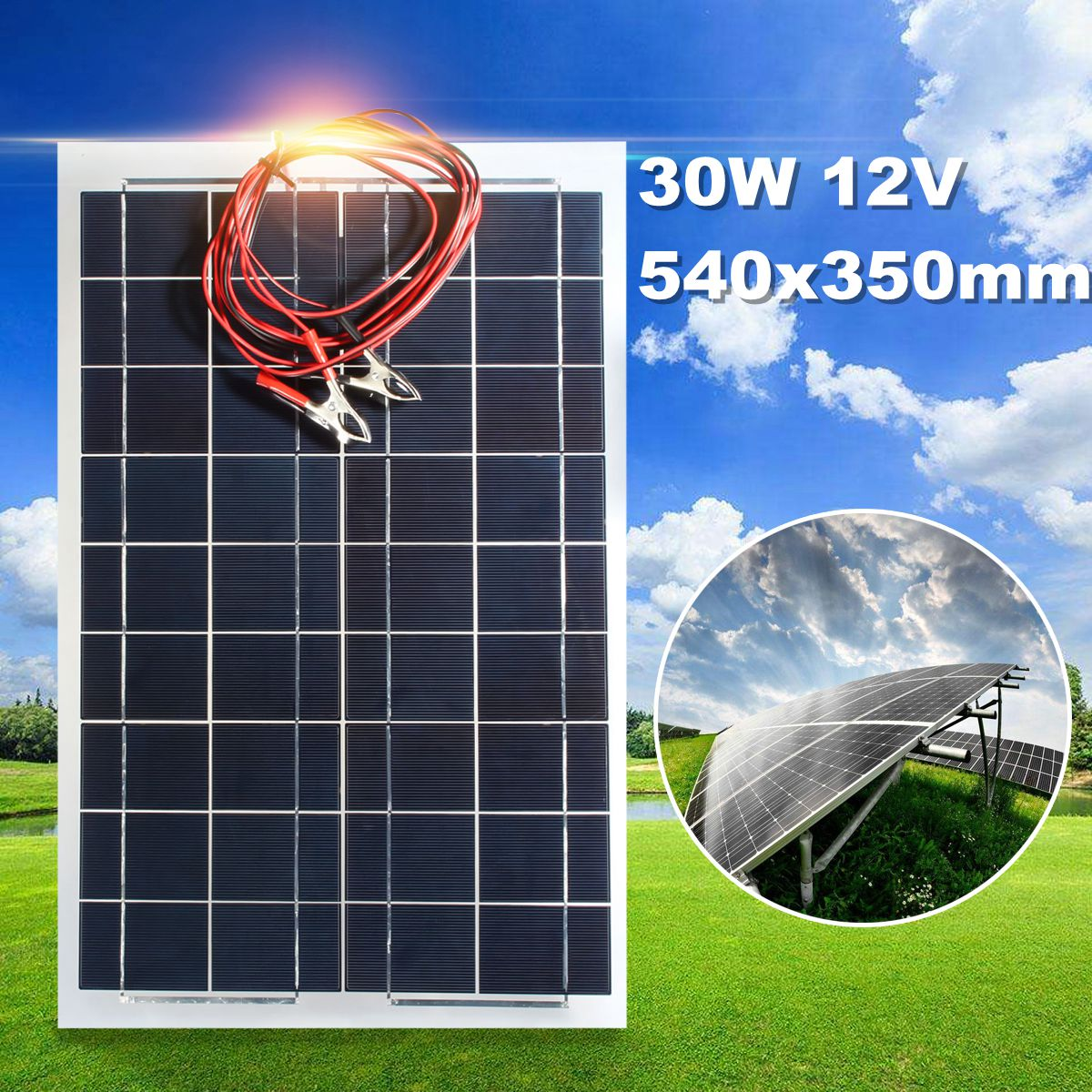 Becornce 30W 12V Semi Flexible Solar Panel Battery Charger + Cable For RV Boat Motorhome for trickle battery productsBecornce 30W 12V Semi Flexible Solar Panel Battery Charger + Cable For RV Boat Motorhome for trickle battery products