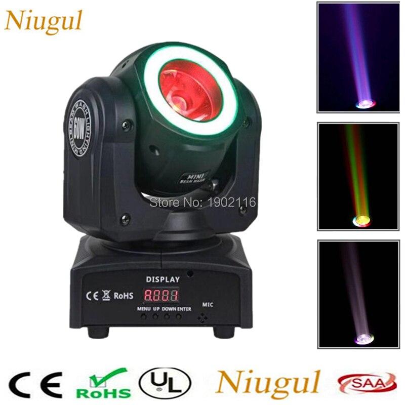 LED 60W RGBW 4IN1 Beam Moving Head Light +RGB Light Strip/Super Bright LED Spot Stage Lighting For Bar Disco /DMX LED Beam Light