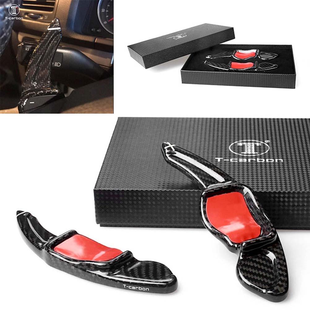Carbon Fiber Steering Wheel Paddle Shift Extension For Volkswagon MK5 MK6 GTI R20 R32 R36 CC