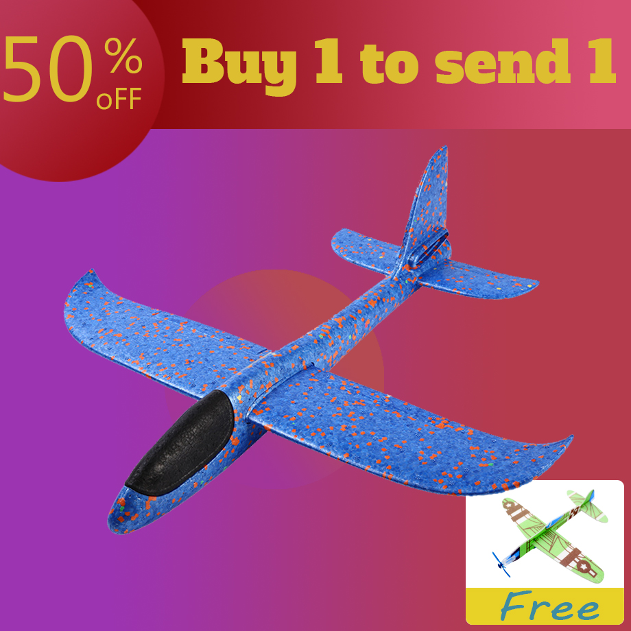 Buy 1 To Send 1 EPP Foam Hand Throw Airplane Outdoor Launch Glider Plane Kids Gift Toy 48CM Interesting Toys